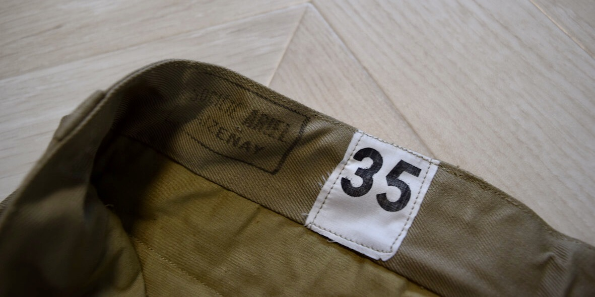 『M52フランスチノパンを乾燥機へ』サイズとあたりの変化結果を紹介