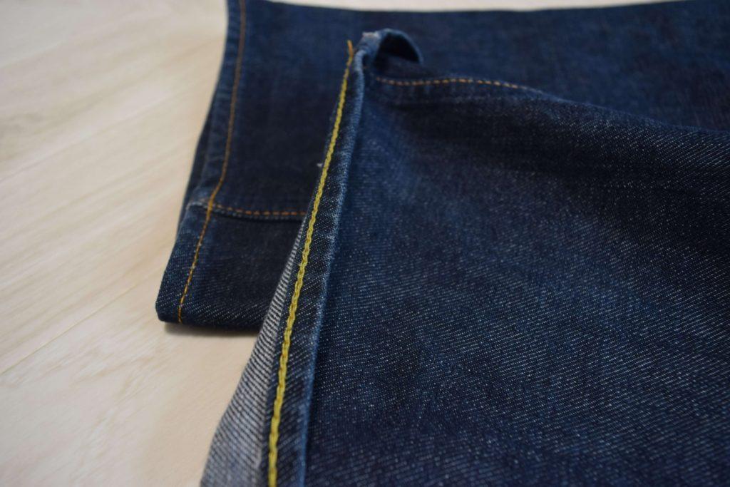 アナトミカのデニムの裾部分