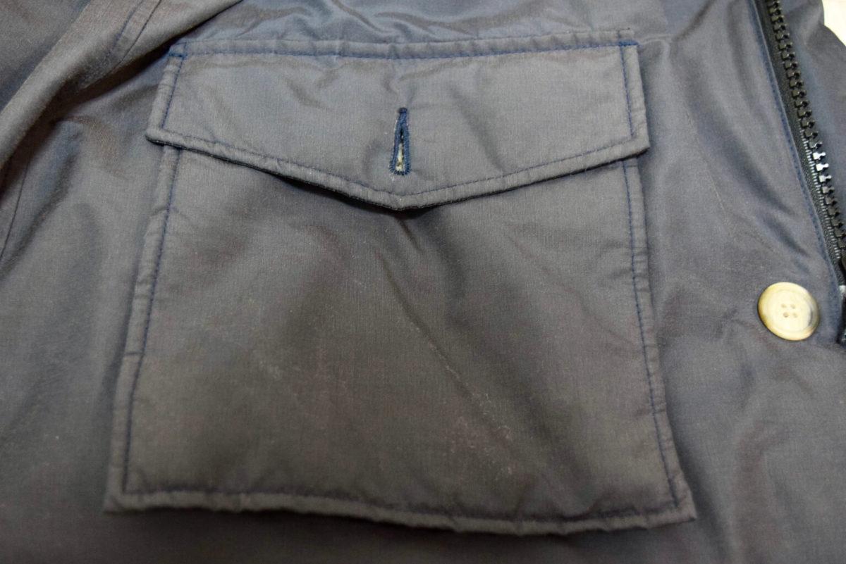 アークティックパーカーのフロントポケット