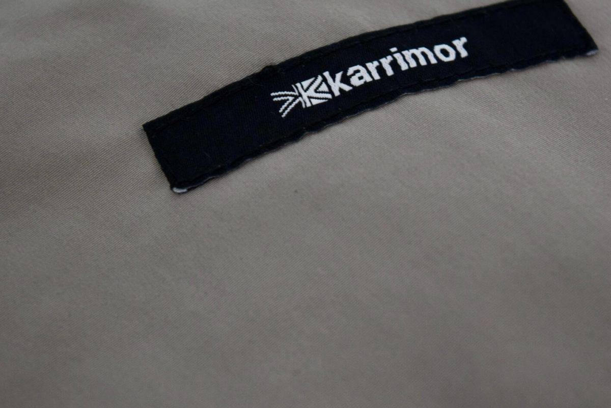 ヒップポケット下についているカリマーのロゴ