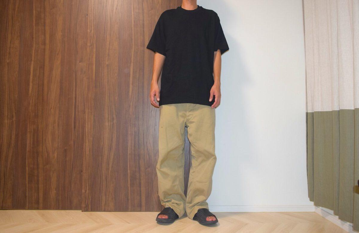 大きすぎるM52パンツと久米繊維のシャツ
