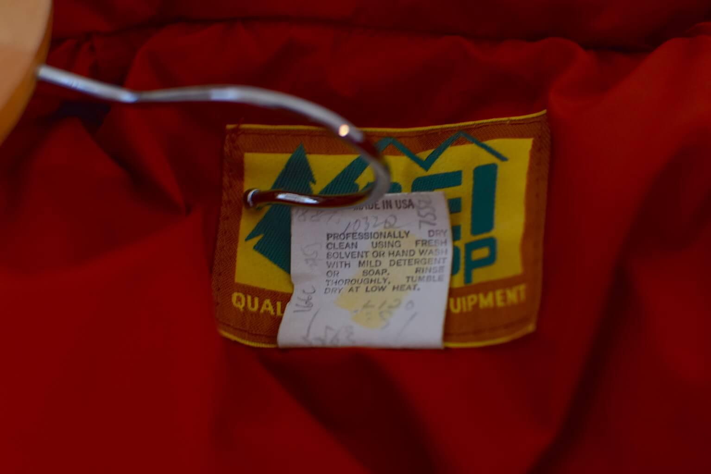 REIのダウンジャケットの洗濯表記