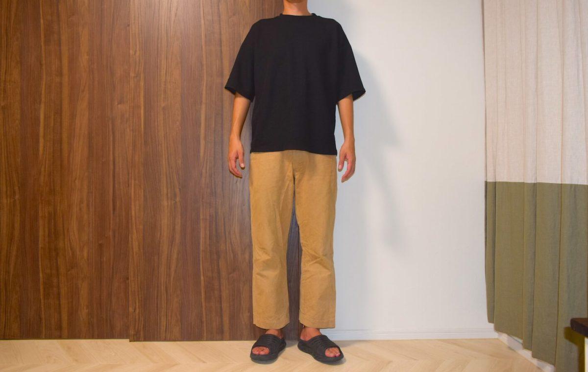 ジャストサイズのフランクリンテーラードとデサントを着用