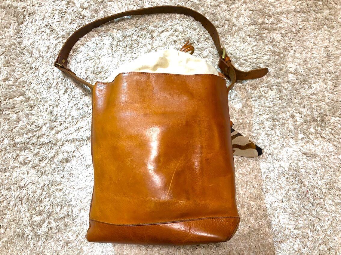 スロウのバッグ全体の経年変化