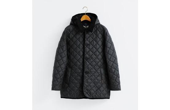 ラベンハムの黒のキルティングジャケット