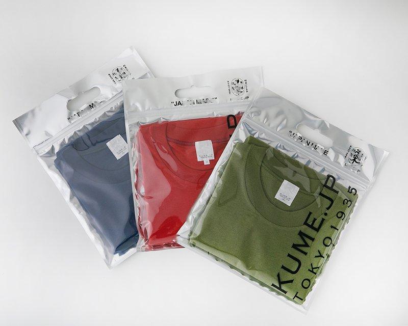 3色の久米繊維のシャツ