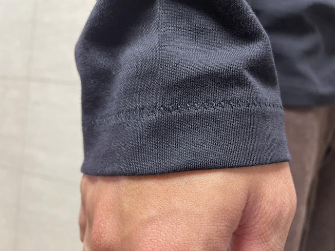 ユニクロのカットソーの縫い目
