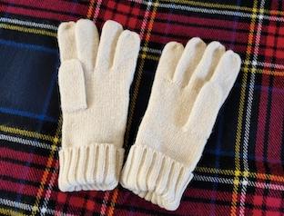 カシミアの手袋