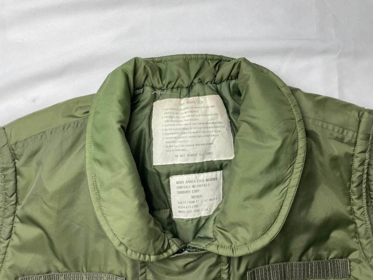M69ベストの襟部分