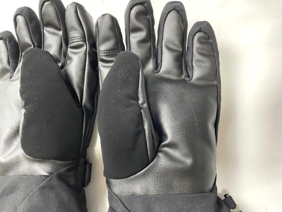 ノースフェイスの手袋の手のひら