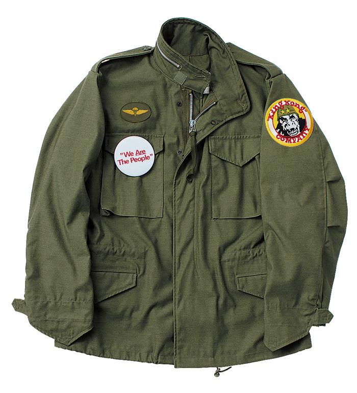 ワッペン付きのM65フィールドジャケット