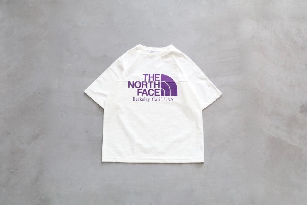 ノースフェイスパープルレーベルのロゴTシャツ