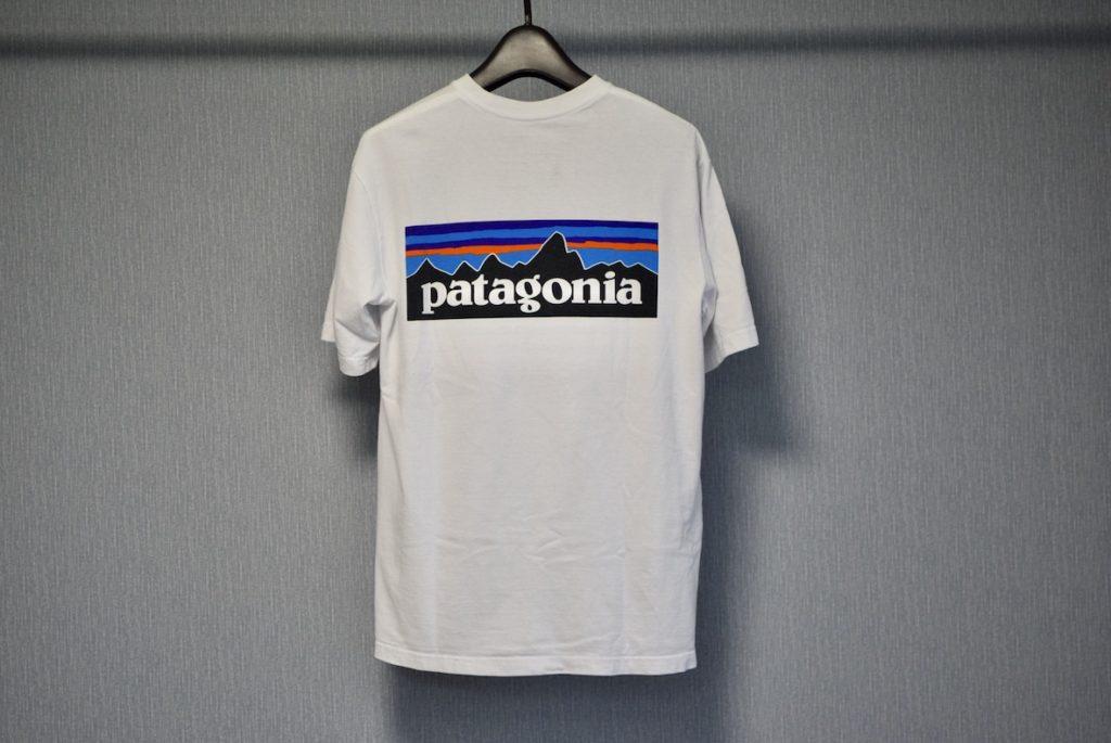 パタゴニアロゴTの背面部分