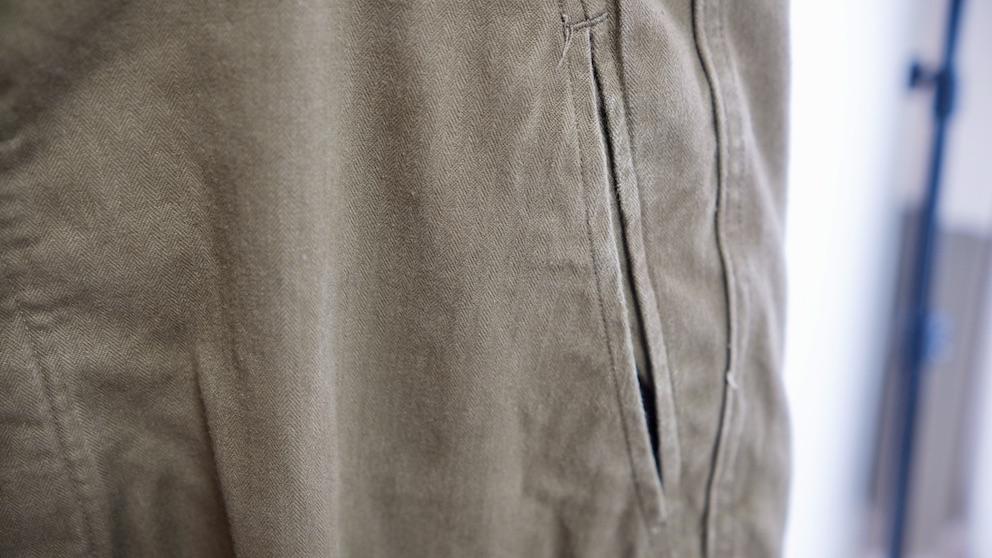 M47パンツのスリットポケット