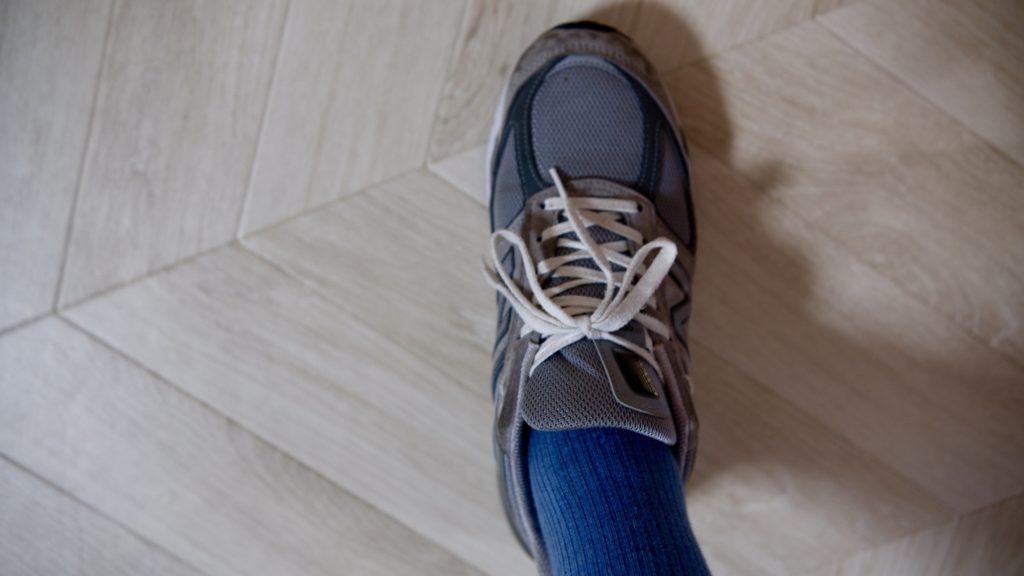 グランズレメディを降ったあと靴を履く