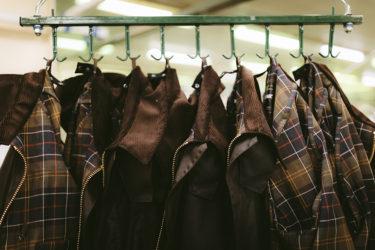 数枚のバブアージャケット